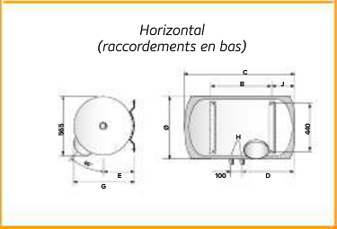 Surréaliste Chauffe-eau Chaffoteaux électrique 150L 3000371 Mono Horizontal VT-52